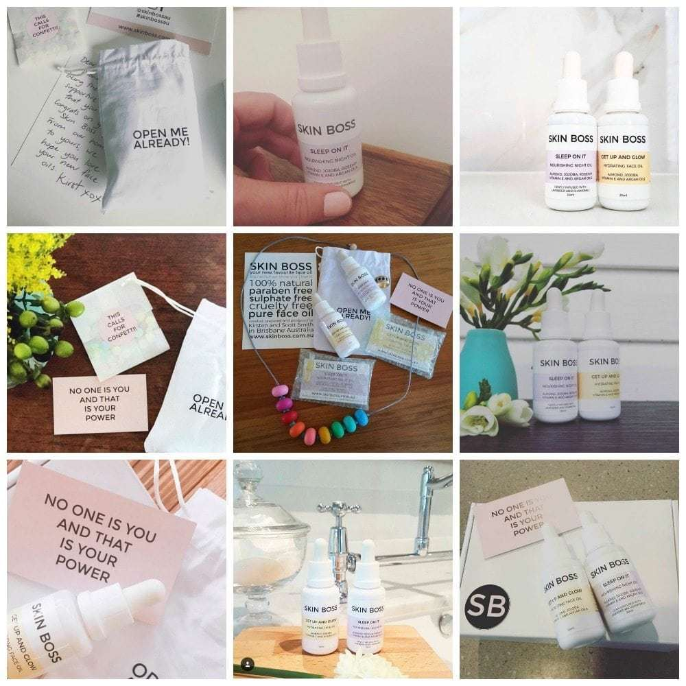 Today we're celebrating our fabulous customers. They know how to nail a flat lay and share our all natural face oils on Instagram like a Skin Boss! Featuring Fat Mum Slim, The Builder's Wife, Cooker and a Looker