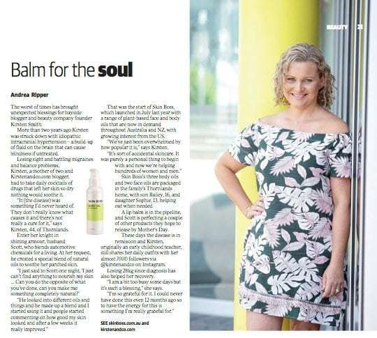Bettyquette founder, Kirsten Smith, shares the details on the Brisbane News Feature Skin Boss received in the February 21 2018 edition, Issue 1165