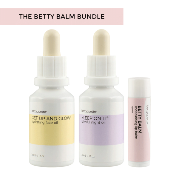 Give your skin a boost of natural hydration with the Bettyquette Betty Balm Bundle