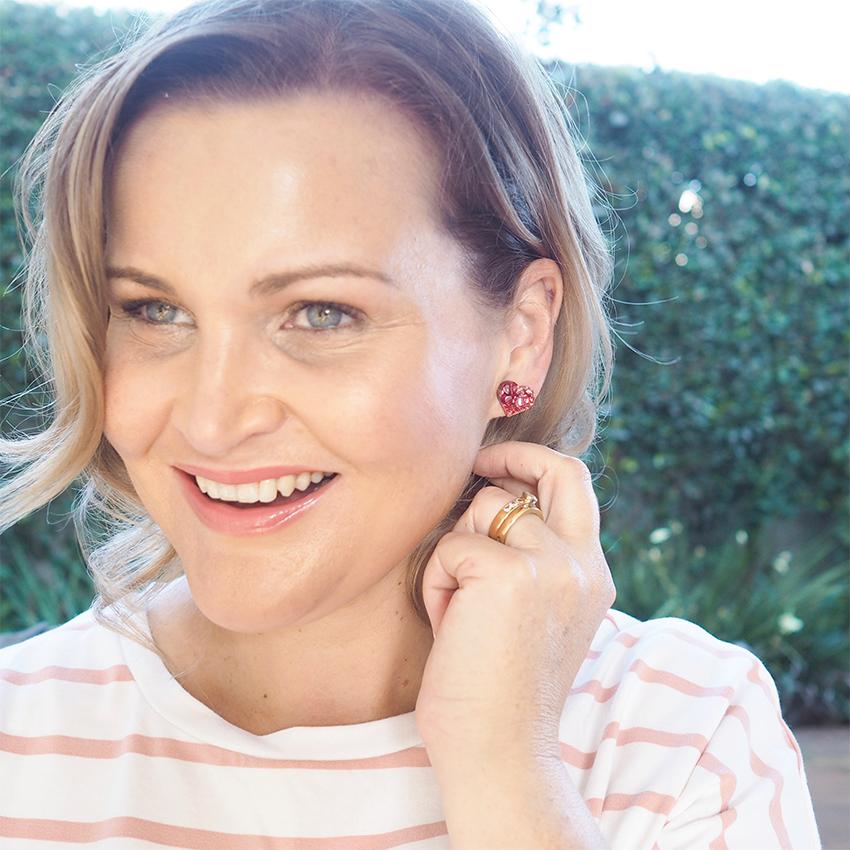 Bettyquette love heart earrings